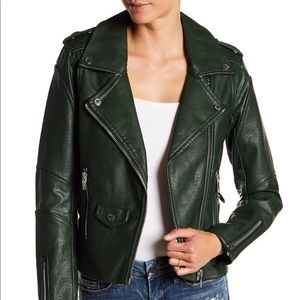 BlankNYC Easy Rider Faux Leather Moto Jacket S